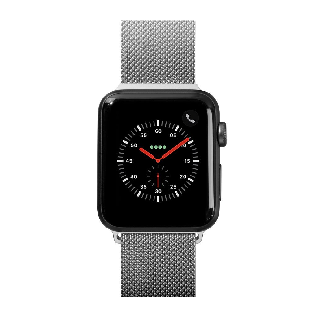 Dây đeo Apple Watch LAUT SteelLoop Silver